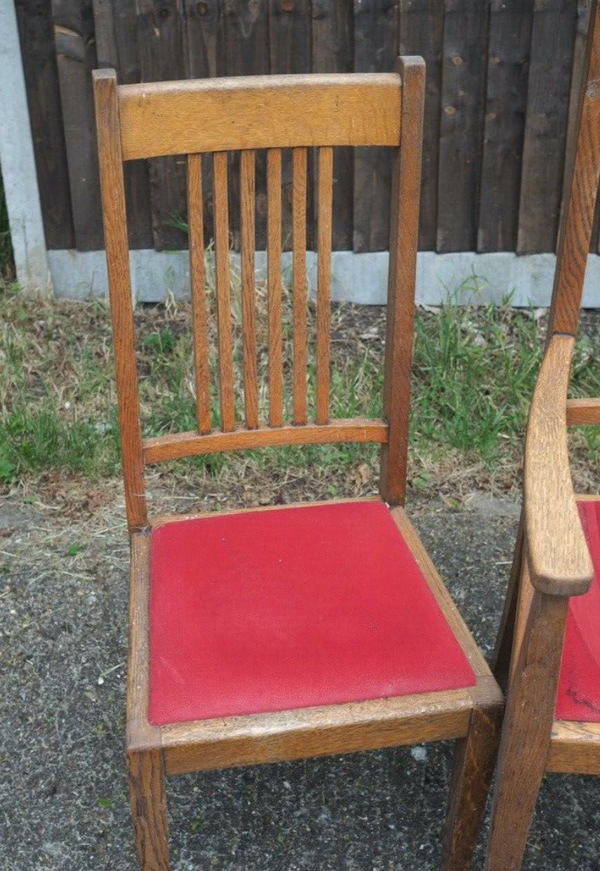 30's oak chairs for sale