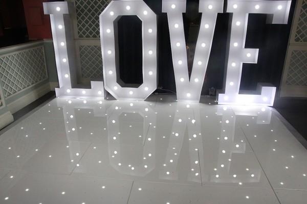 Used White LED Dancefloor 20ft by 20ft