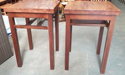 Chunky square top high bar wooden tables