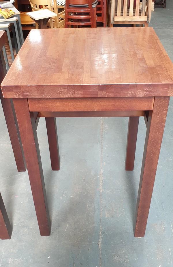 high bar wooden tables