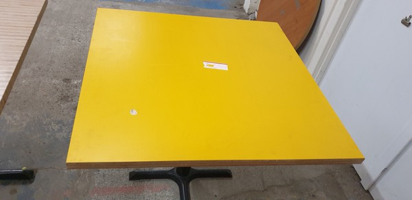 Yellow Laminated Table Tops