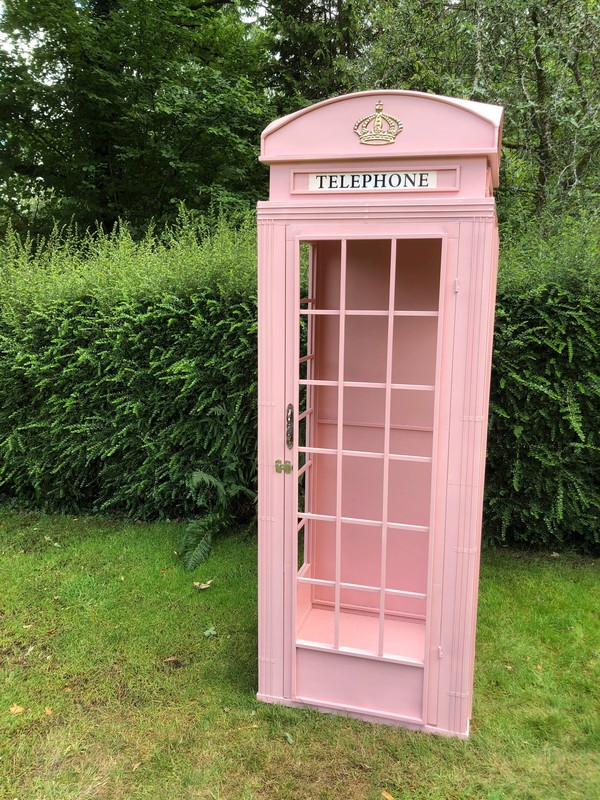 Pink phone box