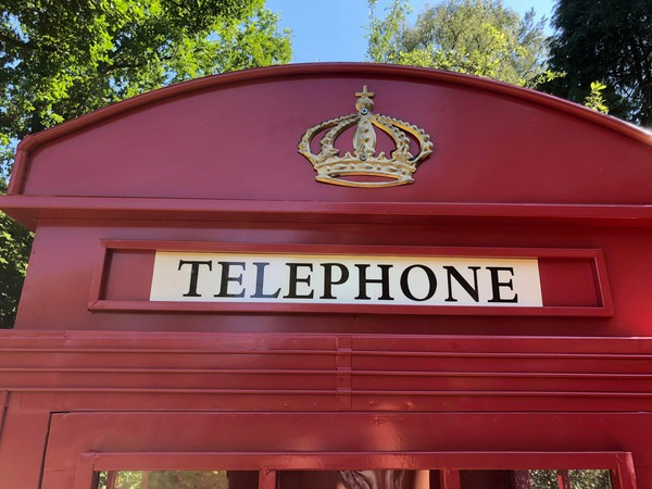 Telephone box with crown