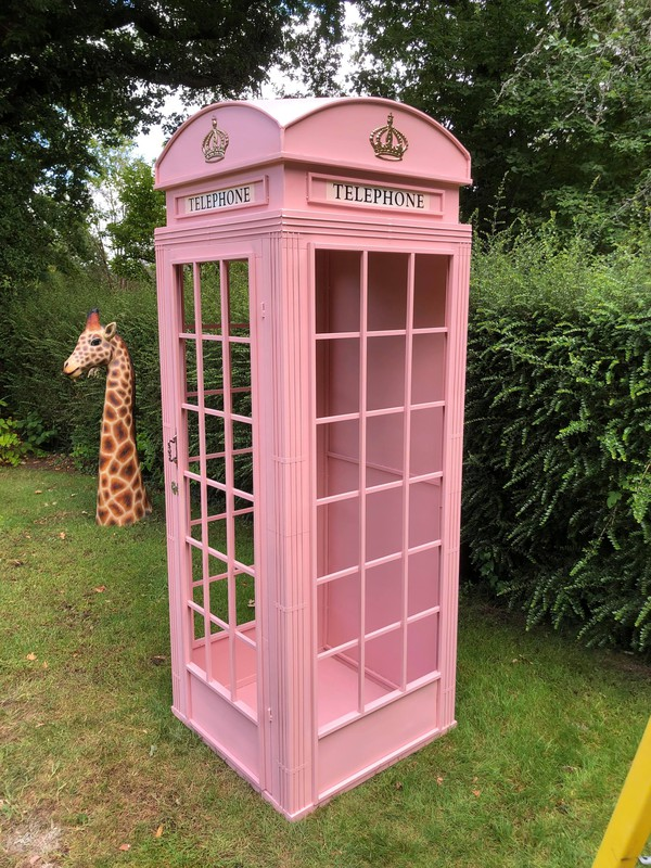 Wedding phone box prop