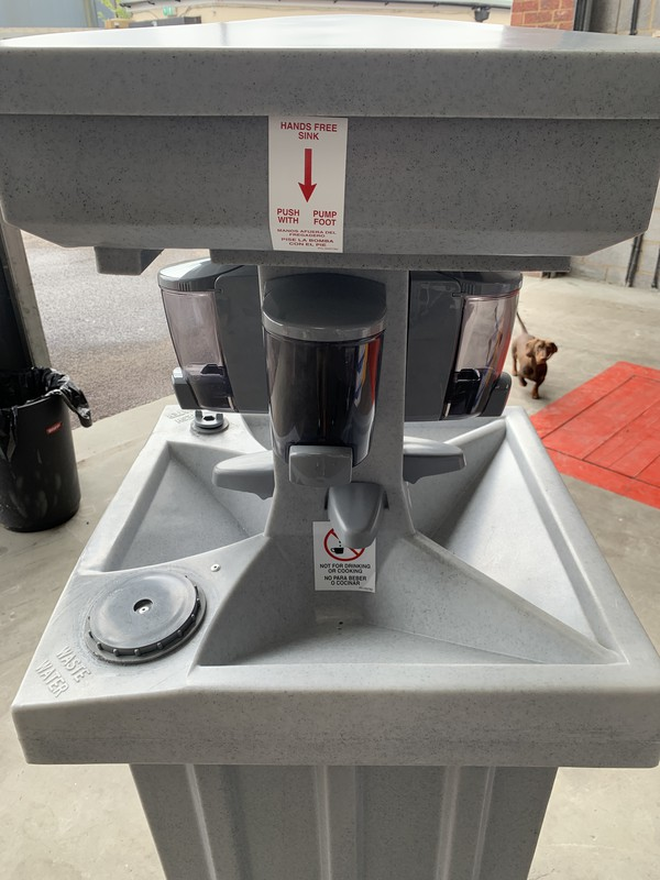 Foot operated Hand free sink