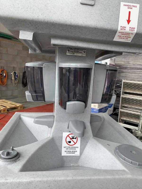 Poly John hand washing station