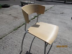 Stacking plywood chair