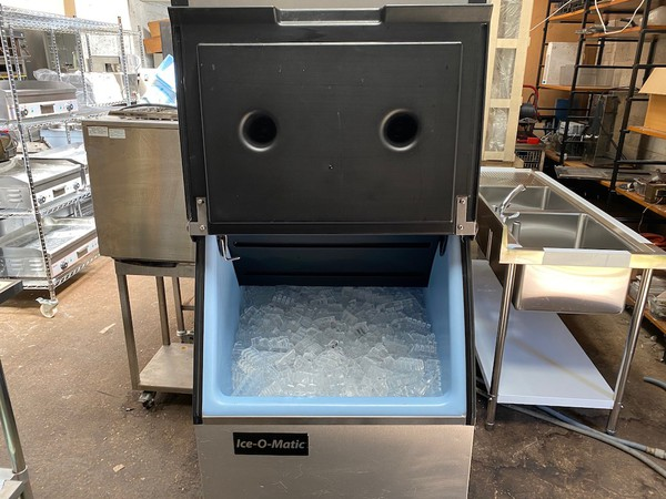 Ice-O-Matic 137kg Output Ice Machine with Large Storage Bin for sale