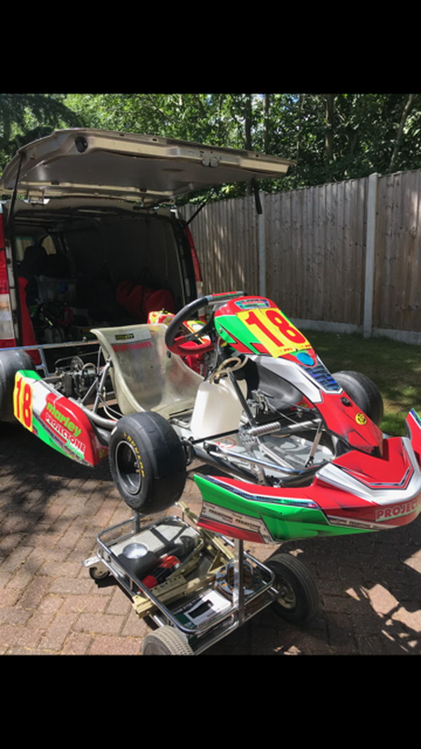 8-13 year old cadet category kart for sale