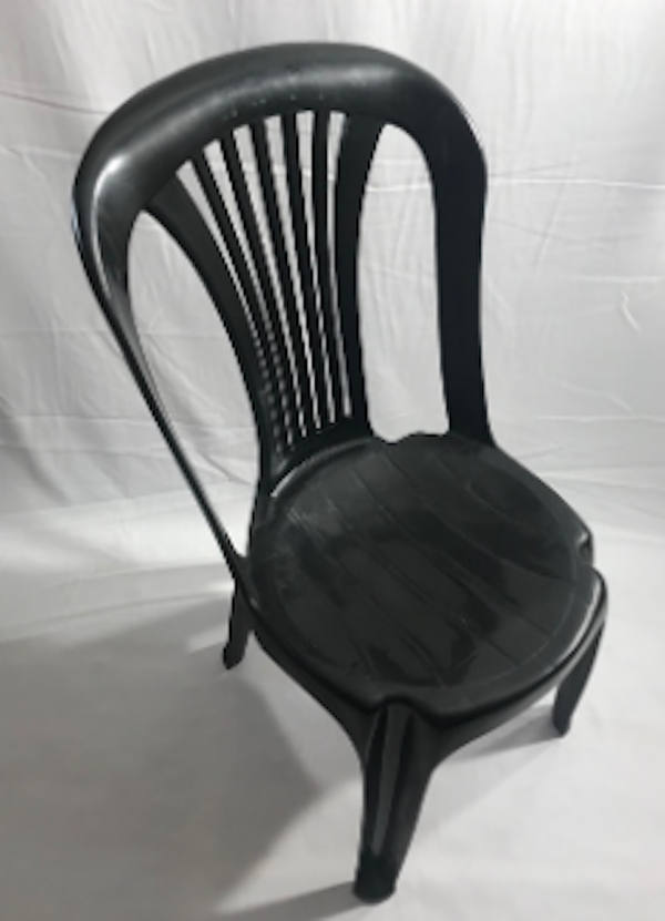 Black Plastic Poly Bistro Chairs