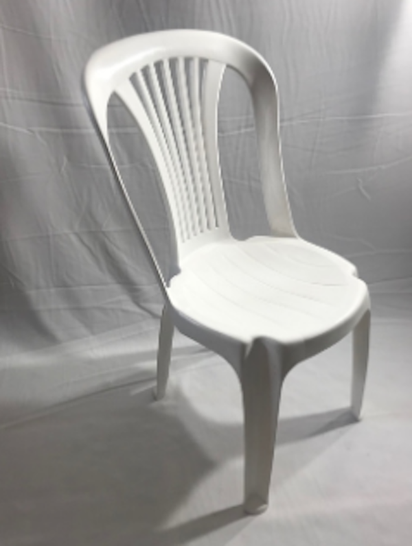 White Plastic Poly Bistro Chairs