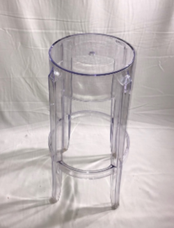NEW Perspex Acrylic Ghost Bar Stool