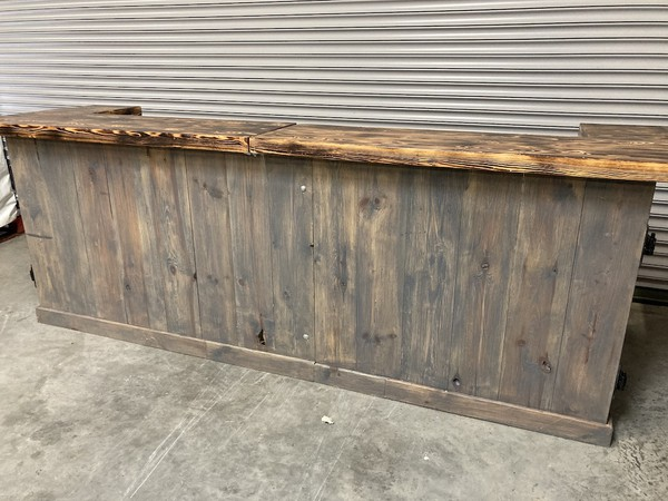 Rustic 10 ft Mobile Bar Counter