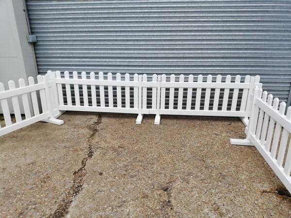 White UPVC Picket Fence Panels