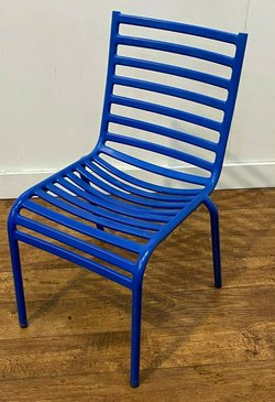 Blue Outdoor Heavy Duty Aluminium Chairs