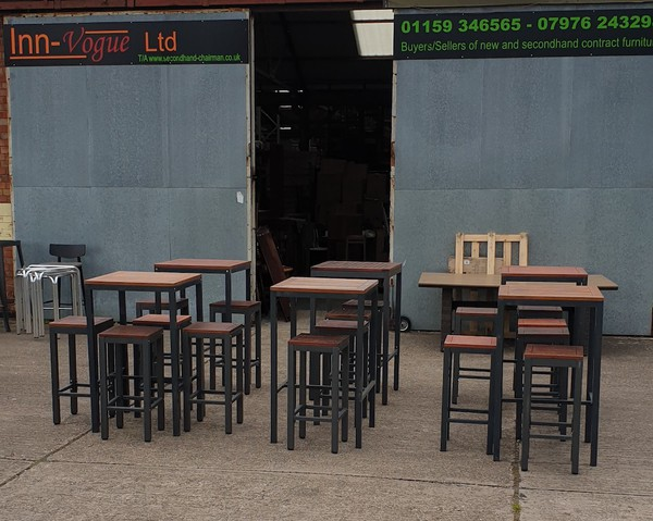 6x New (slight 2nds) Outdoor Bar Tables with 16x Bar Stools