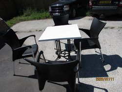 Out door tables and chairs for sale