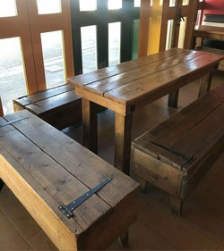 Vintage style chunky tables