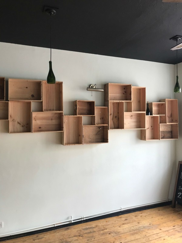 Wine boxes - Bar decor