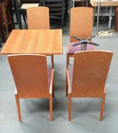 Secondhand cafe chairs and tables