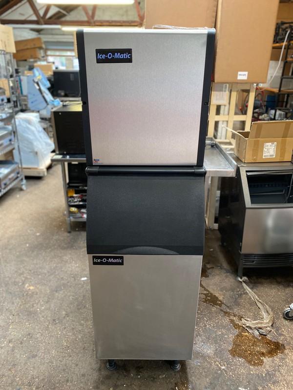 Used Ice-O-Matic 254kg Modular Ice Machine with Storage Bin