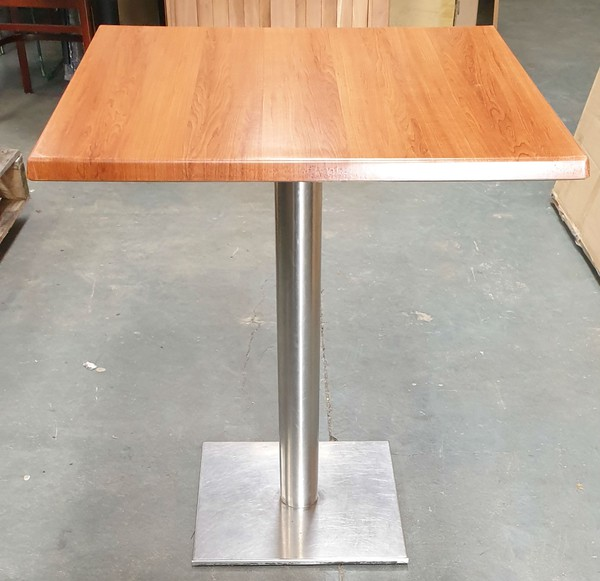 70cm x 70cm Pedestal Tables With New Cherry tops