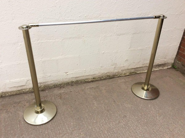 Secondhand barrier posts and rails for sale