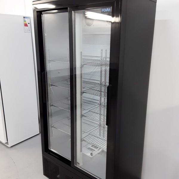 Upright beer fridge with lights