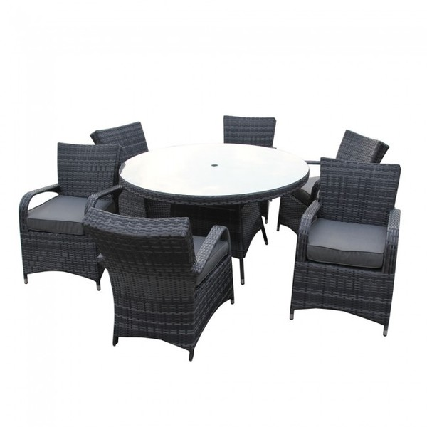 Gray rattan tables and chairs for sale