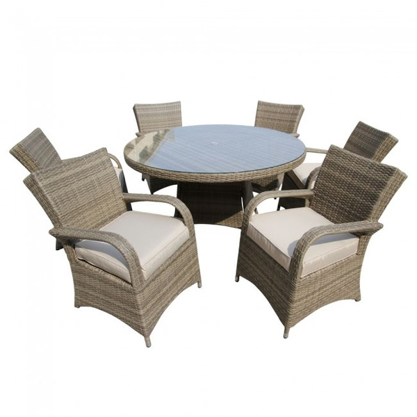 Out door dining rattan tables and chairs