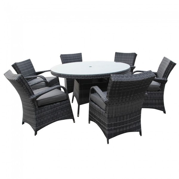 Rattan tables and four chairs set