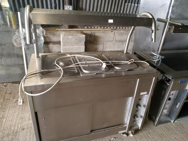 Stainless steel carvery counter