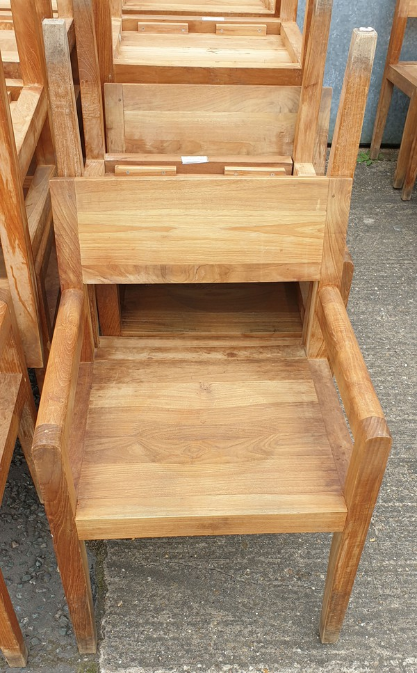 Solid wood outdoor chairs