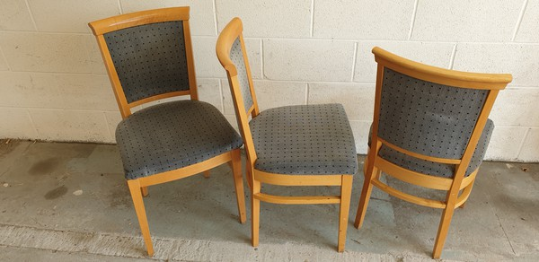 Grey / blue dining chairs