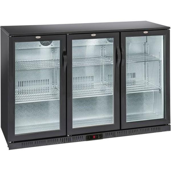 Back Bar Cooler / beer fridge,  3 Hinged Doors - Adexa BBT350H - London