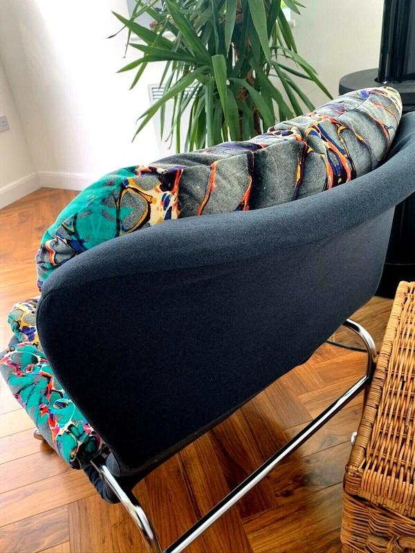 70's chrome frame chairs