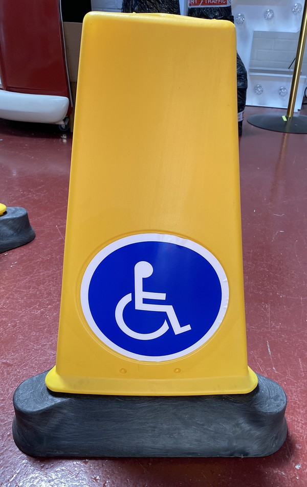 Disabled parking traffic cone