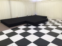 20'x 20' Black And White Dance Floor