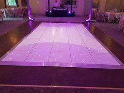 14 x 14 ft White LED Starlit Dance Floor