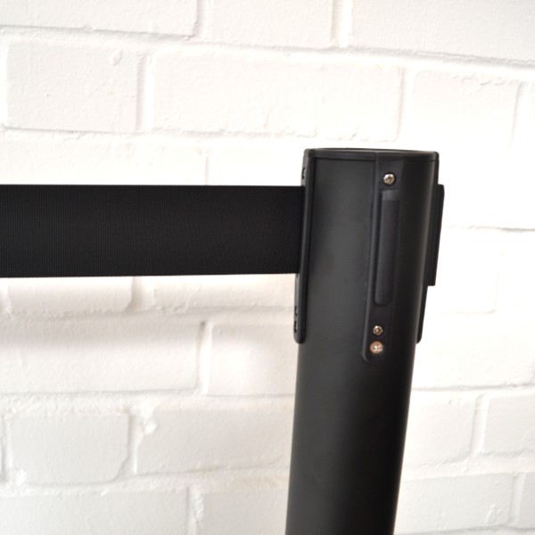 Black Retractable Tensa barriers