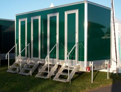 NEW: Luxury 4 Bay Toilet Trailer Separate Cubicles
