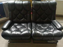 Late 70's Italian Buffalo Hide Chairs / Sofa