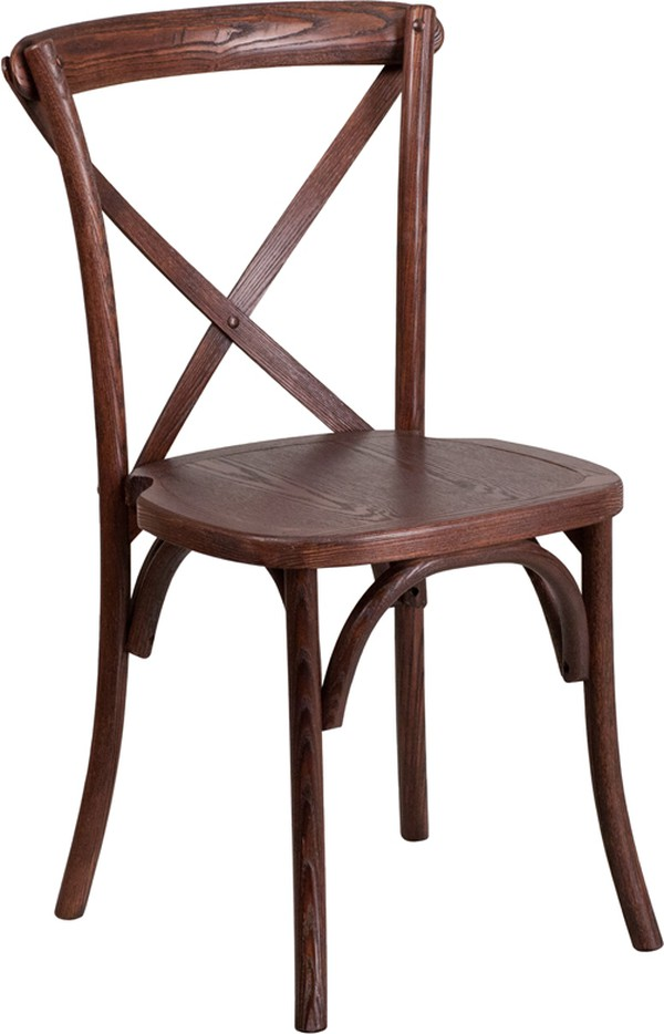 New Wooden Cross Back Chairs
