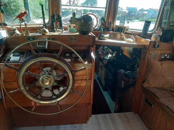 39ft barge boat for sale