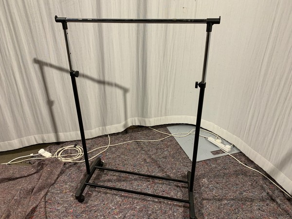 job lot of clothes rails for sale
