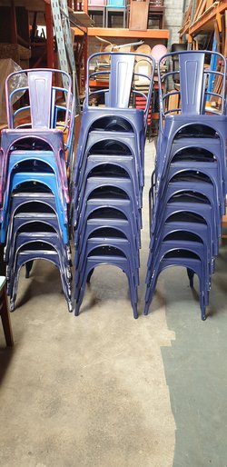 Blue Tolix Style Chairs