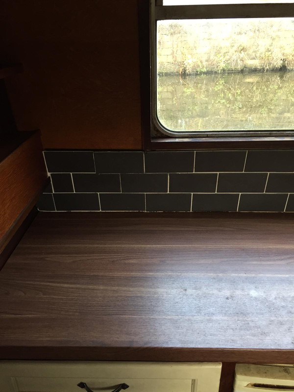 house boat kitchen surfaces