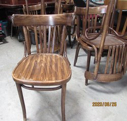 oak effect traditional style bentwood restaurant/cafe chairs