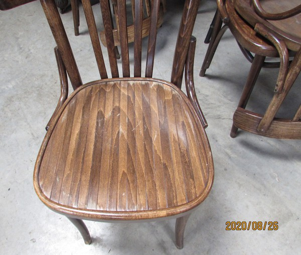 oak effect traditional bentwood chairs