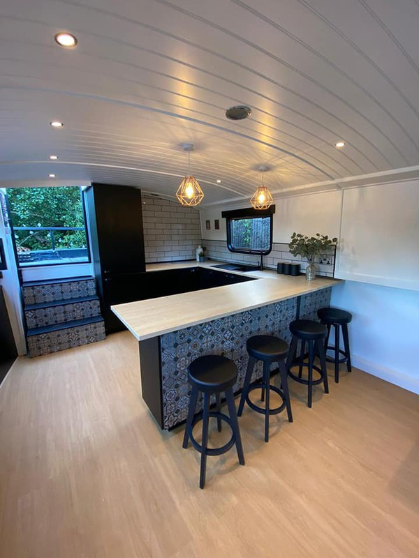 live aboard canal boat
